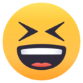 Grinning Squinting Face on EmojiOne 4.0