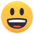 Grinning Face With Big Eyes on EmojiOne 4.0