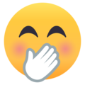Face With Hand Over Mouth on EmojiOne 4.0