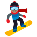 Snowboarder: Medium Skin Tone on EmojiOne 4.0