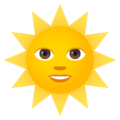 Sun With Face on EmojiOne 4.0
