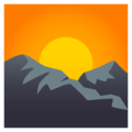Sunrise Over Mountains on EmojiOne 4.0
