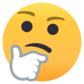 Thinking Face on EmojiOne 4.0