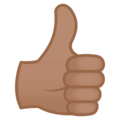 Thumbs Up: Medium Skin Tone on EmojiOne 4.0