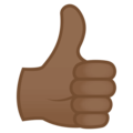 Thumbs Up: Medium-Dark Skin Tone on EmojiOne 4.0