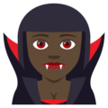 Vampire: Dark Skin Tone on EmojiOne 4.0