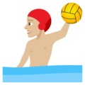 Person Playing Water Polo: Medium-Light Skin Tone on EmojiOne 4.0
