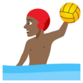 Person Playing Water Polo: Medium-Dark Skin Tone on EmojiOne 4.0