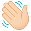 Waving Hand: Light Skin Tone on EmojiOne 4.0
