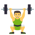 Person Lifting Weights on EmojiOne 4.0