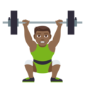 Person Lifting Weights: Medium-Dark Skin Tone on EmojiOne 4.0