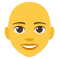 Woman, Bald on EmojiOne 4.0