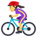 Woman Biking on EmojiOne 4.0