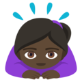 Woman Bowing: Dark Skin Tone on EmojiOne 4.0