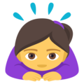 Woman Bowing on EmojiOne 4.0