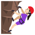 Woman Climbing: Light Skin Tone on EmojiOne 4.0