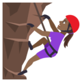 Woman Climbing: Medium-Dark Skin Tone on EmojiOne 4.0