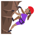 Woman Climbing: Medium Skin Tone on EmojiOne 4.0