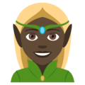 Woman Elf: Dark Skin Tone on EmojiOne 4.0