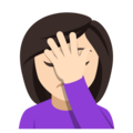 Woman Facepalming: Light Skin Tone on EmojiOne 4.0
