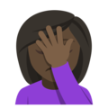 Woman Facepalming: Dark Skin Tone on EmojiOne 4.0