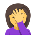 Woman Facepalming on EmojiOne 4.0