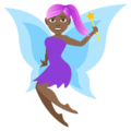 Woman Fairy: Medium-Dark Skin Tone on EmojiOne 4.0