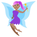Woman Fairy: Medium Skin Tone on EmojiOne 4.0