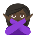Woman Gesturing No: Dark Skin Tone on EmojiOne 4.0