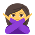 Woman Gesturing No on EmojiOne 4.0