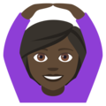 Woman Gesturing OK: Dark Skin Tone on EmojiOne 4.0