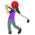 Woman Golfing on EmojiOne 4.0