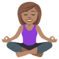 Woman in Lotus Position: Medium Skin Tone on EmojiOne 4.0