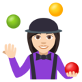Woman Juggling: Light Skin Tone on EmojiOne 4.0