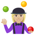 Woman Juggling: Medium-Light Skin Tone on EmojiOne 4.0