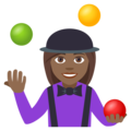 Woman Juggling: Medium-Dark Skin Tone on EmojiOne 4.0