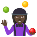 Woman Juggling: Dark Skin Tone on EmojiOne 4.0