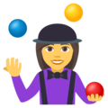 Woman Juggling on EmojiOne 4.0