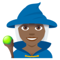 Woman Mage: Medium-Dark Skin Tone on EmojiOne 4.0