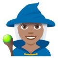 Woman Mage: Medium Skin Tone on EmojiOne 4.0