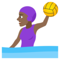 Woman Playing Water Polo: Medium-Dark Skin Tone on EmojiOne 4.0