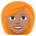 Woman, Red Haired: Medium Skin Tone on EmojiOne 4.0
