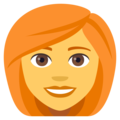 Woman, Red Haired on EmojiOne 4.0