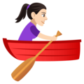 Woman Rowing Boat: Light Skin Tone on EmojiOne 4.0