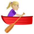 Woman Rowing Boat: Medium-Light Skin Tone on EmojiOne 4.0