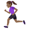 Woman Running: Medium-Dark Skin Tone on EmojiOne 4.0