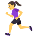 Woman Running on EmojiOne 4.0
