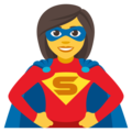 Woman Superhero on EmojiOne 4.0