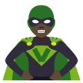 Woman Supervillain: Dark Skin Tone on EmojiOne 4.0