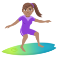 Woman Surfing: Medium Skin Tone on EmojiOne 4.0